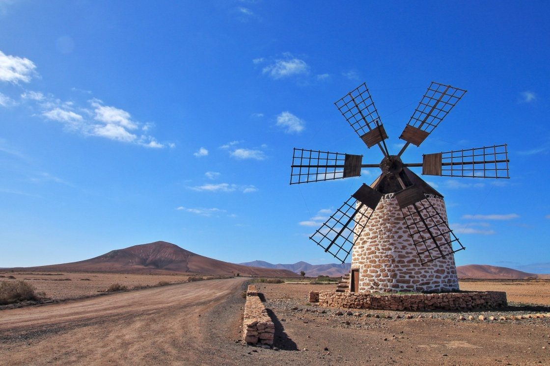 'Windmill on Fuerteventura, Canary Islands, Spain' - Fuerteventura